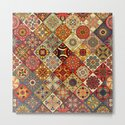 Vintage patchwork with floral mandala elements by somberlain