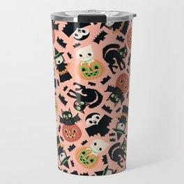 Halloween Gang Pink Travel Mug
