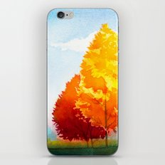 Autumn landscape #3 iPhone Skin