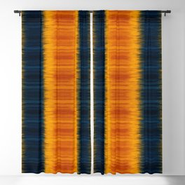 N249 - Orange Blue Oriental Vintage Boho Moroccan Style Blackout Curtain