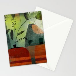 LAYERED VASES Stationery Cards