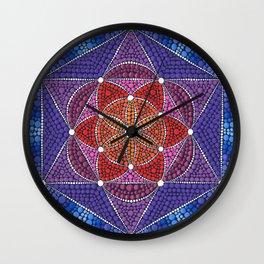 Creation Mandala Wall Clock