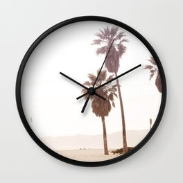 Vintage Summer Palm Trees Wall Clock