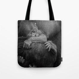 Newborn Baby Gorilla Tote Bag