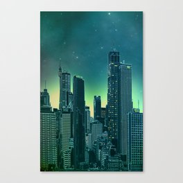 Night city [turquoise] Canvas Print