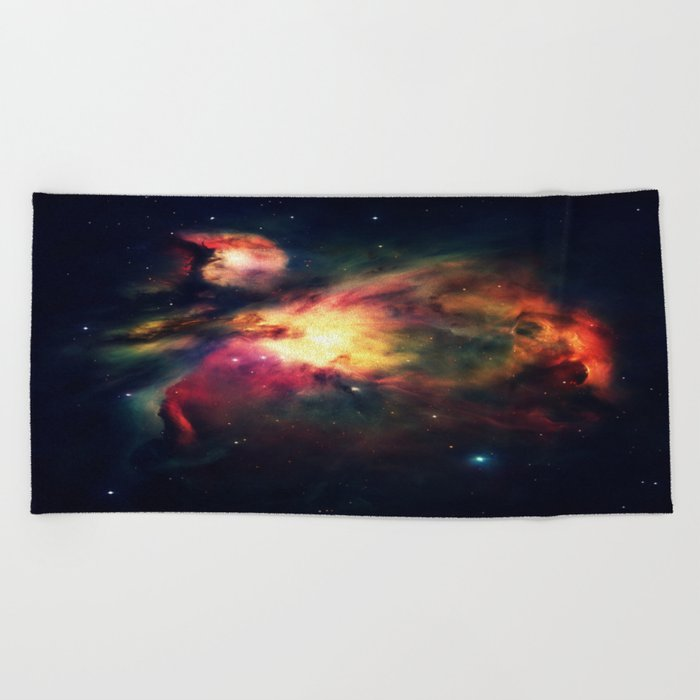 Orion NEbula Dark & Colorful : Hauntingly Beautiful Series Beach Towel