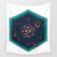 lovecraft Wall Tapestries featuring Hex by Hector Mansilla