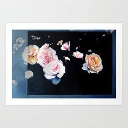Flowers - Original Oil on Canvas Painting - 2016, Daniel Twist Art Print