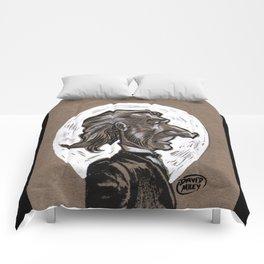 Victorian Profile_1 Comforters