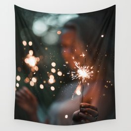 Her Light (Color) Wall Tapestry