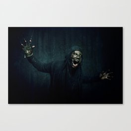 Boogie Horror: Mirror Mask - Attack! Canvas Print