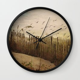Over the Dunes Painterly Wall Clock