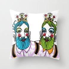 Crown Beard Twins Throw Pillow