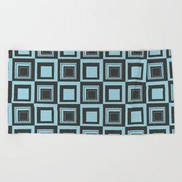 Blue Squares Beach Towel