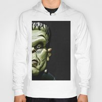 frankenstein Hoodies featuring Frankenstein by Sergio Bastidas