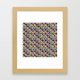 Retro Box Mosaic Framed Art Print