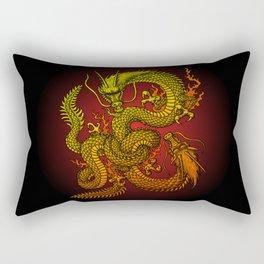 Twin dragons Rectangular Pillow