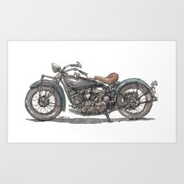 1929 Indian Motorcycle Art Print