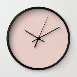 Silver Peony Wall Clock
