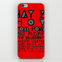 jay z iPhone & iPod Skins featuring Eye Test - JAY Z by Studio Samantha
