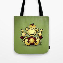 Manic Monkey with 4 thumbs up Tote Bag