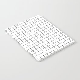 Black and White Thin Grid Graph Notebook