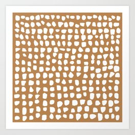 Dots (Tan) Art Print