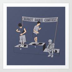Robot Dance Contest Art Print