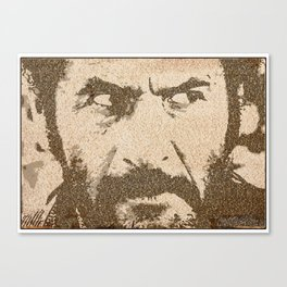 Text Portrait of Tuco Ramirez with full script of The Good The Bad and The Ugly Canvas Print