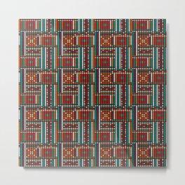 Beaded Fabric Pattern Metal Print