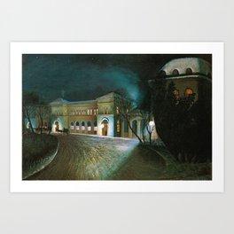 Around Midnight (Budapest East Station) by Tivadar Csontvary-Kosztka Art Print