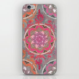 Hot Pink, Magenta and Orange Super Boho Medallions iPhone Skin
