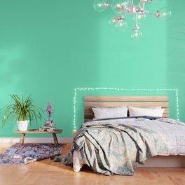 Solid Bright Aquamarine Aqua Blue Green Color Wallpaper