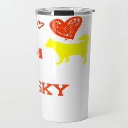 This Girl Loves Her Husky Cougars Dog Type Travel Mug