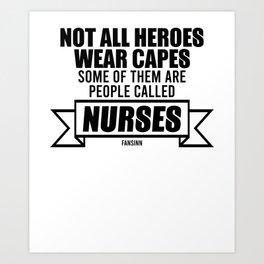 Nurse practitioner virus flu pill Art Print