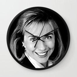 Black & white Portrait of HRC (1992) Wall Clock