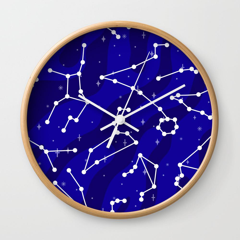 Starlight Star Bright Wall Clock by Dorothytimmer CLK7967943