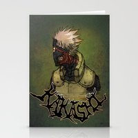 kakashi Stationery Cards featuring Flesh Eating Sensei?! by Mike Fuego
