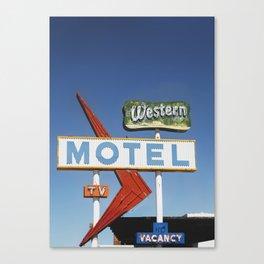 Western Motel Print Canvas Print