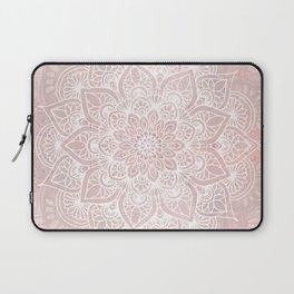 Mandala Yoga Love, Blush Pink Floral Laptop Sleeve
