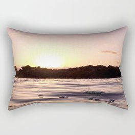 Ocean Waters // Turtle Bay Hawaii Behind the Cove Orange Pink Yellow Sunset Rectangular Pillow