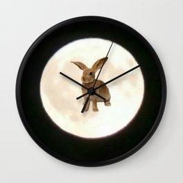 Moonrabbit 3 Wall Clock