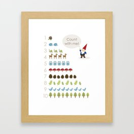Woodland Counting Framed Art Print