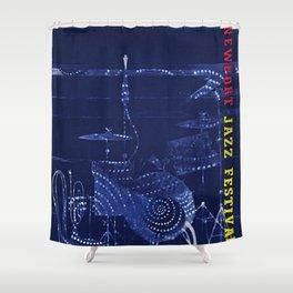 1955 Newport Jazz Festival Vintage Advertisement Poster Newport, Rhode Island Shower Curtain