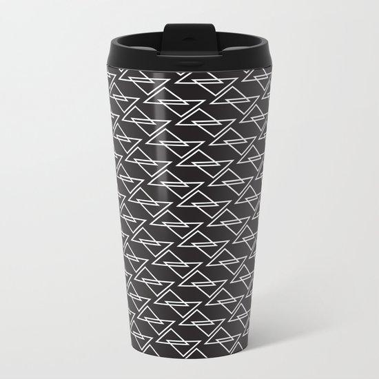 Zigzag Metal Travel Mug