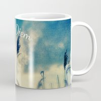 carpe diem Mugs featuring Carpe Diem by Sandra Arduini