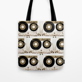 Transparant mix tape Retro Cassette Tote Bag