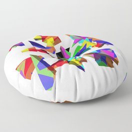 geometric triangles Floor Pillow
