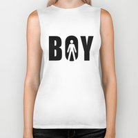 boy Biker Tanks featuring boy by Steffi Louis