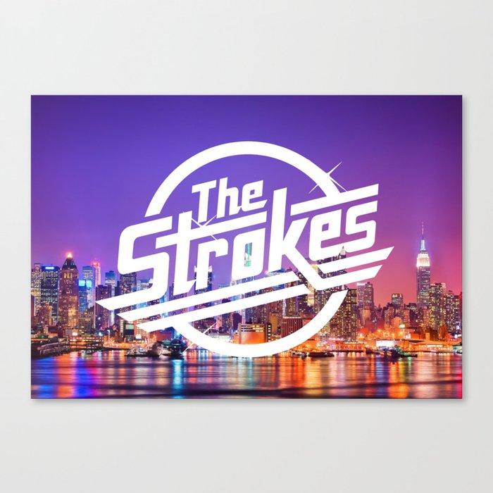 The Strokes Logo New York Night Canvas Print